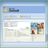 MS Outlook HCG Diet Online Daily Meal Planner